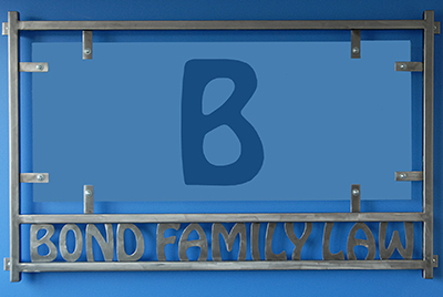 Bond Family Law office sign